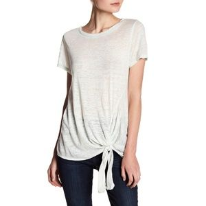 SUSINA White Tie-Front Faded Tee NWT Small